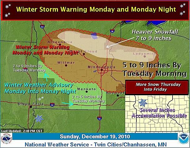 Weather Outlook - Dec. 19, 2010