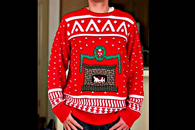 Ugly Sweater With A Fireplace