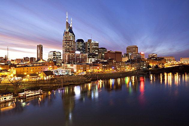Nashville skyline at twilight