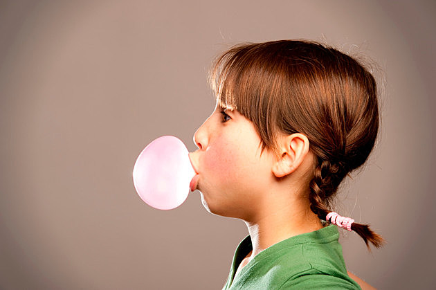 bubble from a chewing gum