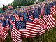 Sixty Thousand American Flags Set Up In Size And Shape Of Vietnam Veterans Memorial