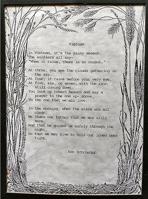 VOM Ken Schroeder Poem