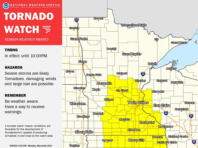 NWS radar image from Minneapolis, MN