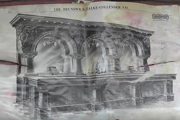 Olde Brick House bar drawing