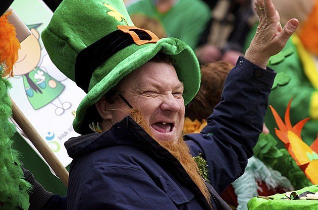 Laughing Man in St. Patrick's Day Parade