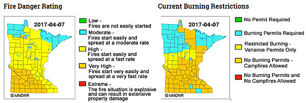 MN DNR Burning Restrictions