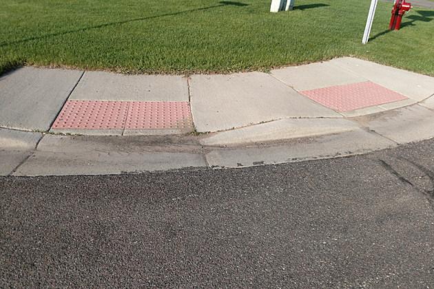 Sartell's sidewalk bumps